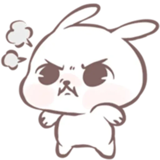 Drawn Bunny - Sticker 22