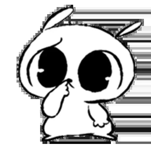 Drawn Bunny - Sticker 5