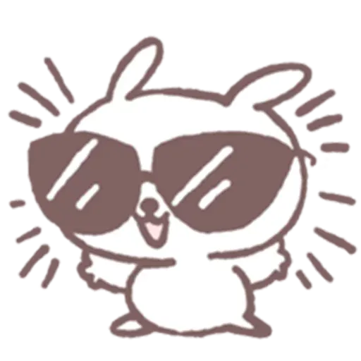 Drawn Bunny - Sticker 13