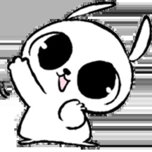 Drawn Bunny - Sticker 1