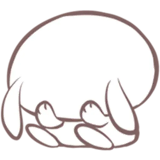 Drawn Bunny - Sticker 25