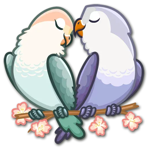 Lovebirds - Sticker 1