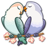 Lovebirds - Tray Sticker