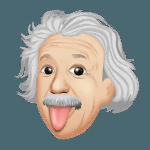 Einstein - Einsteinmoji - Sticker 16