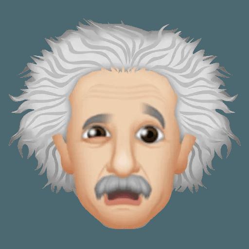 Einstein - Einsteinmoji - Sticker 13