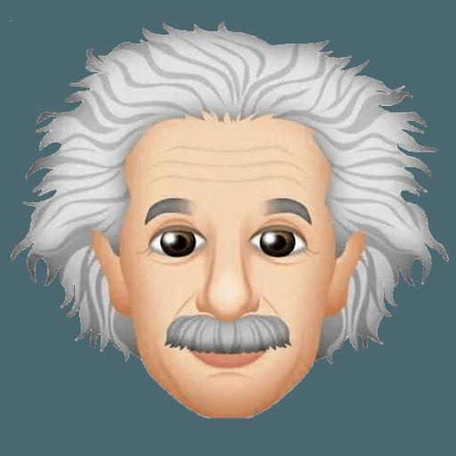 Einstein - Einsteinmoji - Tray Sticker