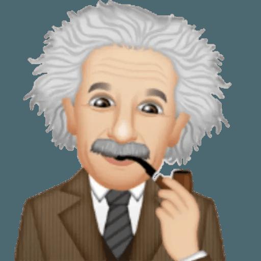 Einstein - Einsteinmoji - Sticker 22