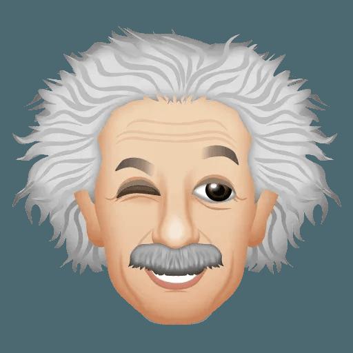 Einstein - Einsteinmoji - Sticker 2