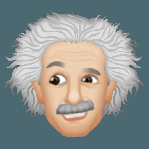 Einstein - Einsteinmoji - Sticker 20