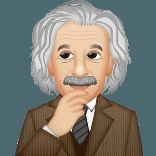 Einstein - Einsteinmoji - Sticker 24