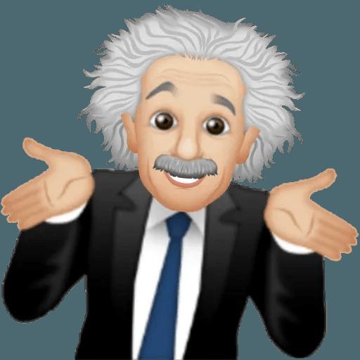 Einstein - Einsteinmoji - Sticker 28