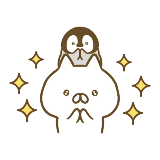 Penguin and Cat Days Moving Backgrounds - Sticker 16