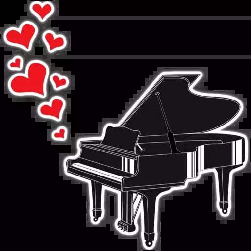 Piano - Tray Sticker