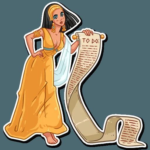 Cleopatra - Tray Sticker
