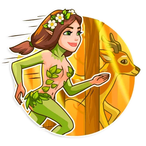 Wood Nymph 1 - Sticker 13