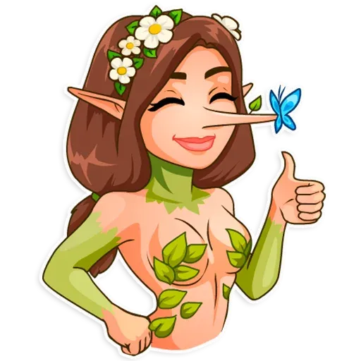 Wood Nymph 1 - Sticker 3