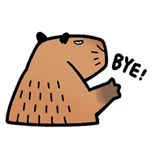 水豚卡皮與芭樂 - Tray Sticker