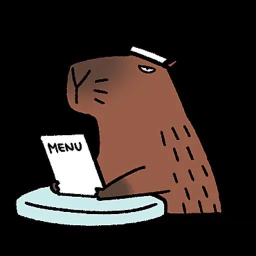 水豚卡皮與芭樂 - Sticker 16