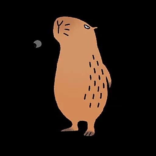 水豚卡皮與芭樂 - Sticker 13