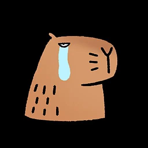水豚卡皮與芭樂 - Sticker 8