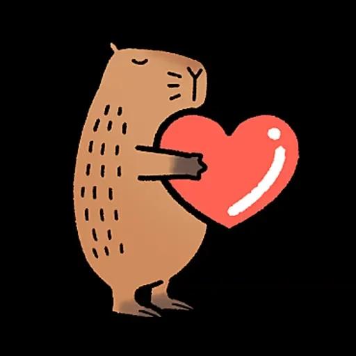 水豚卡皮與芭樂 - Sticker 4