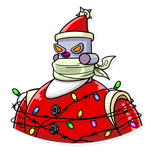 RoboSanta - Sticker 24