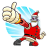 RoboSanta - Tray Sticker