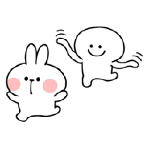Rabbit Smile Person 3 - Sticker 29
