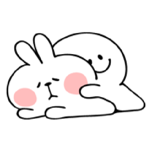 Rabbit Smile Person 3 - Sticker 2
