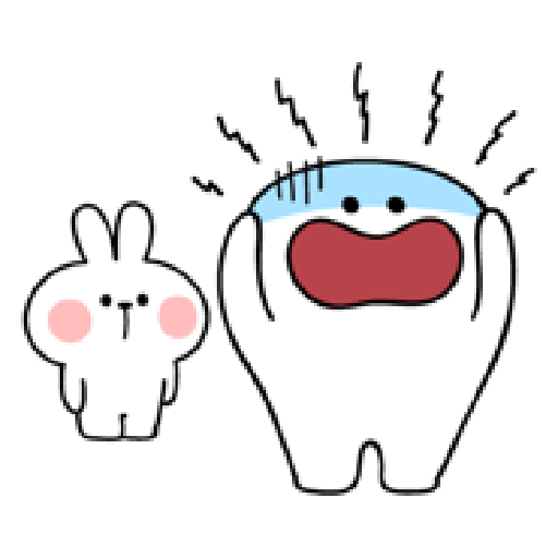 Rabbit Smile Person 3 - Sticker 5