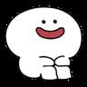 Rabbit Smile Person 3 - Tray Sticker