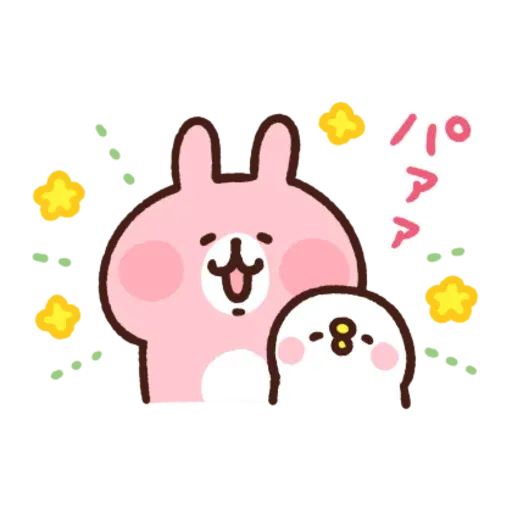 kanahei & usagi friendly greetings2 - Sticker 5