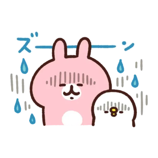 kanahei & usagi friendly greetings2 - Sticker 6