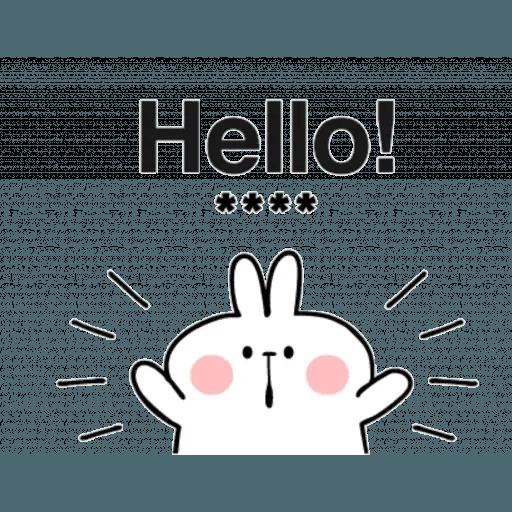 Spoiled rabbit 24 - Tray Sticker