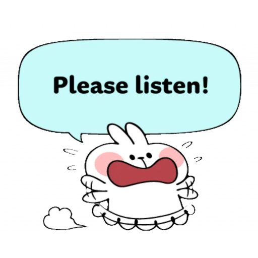 Spoiled rabbit speech - Sticker 24