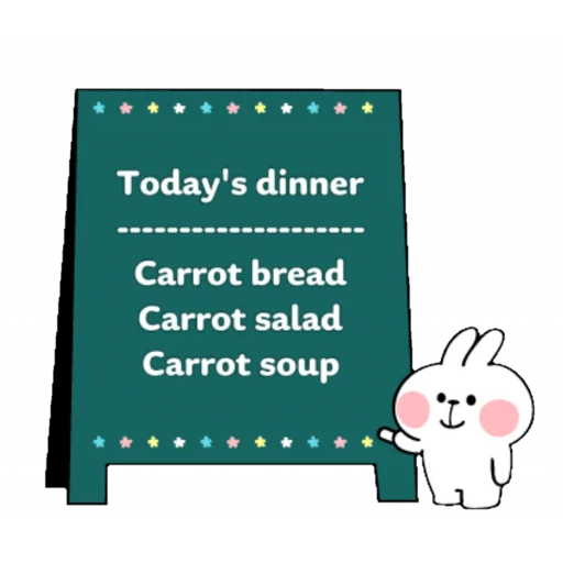 Spoiled rabbit speech - Sticker 23