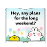 Spoiled rabbit speech - Tray Sticker
