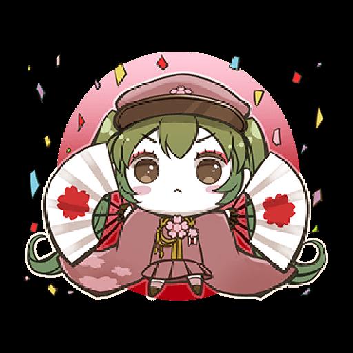 Hatsune Miku senbonsakura - Tray Sticker