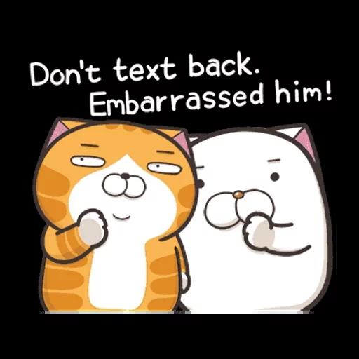 白爛貓英文版 - Sticker 8