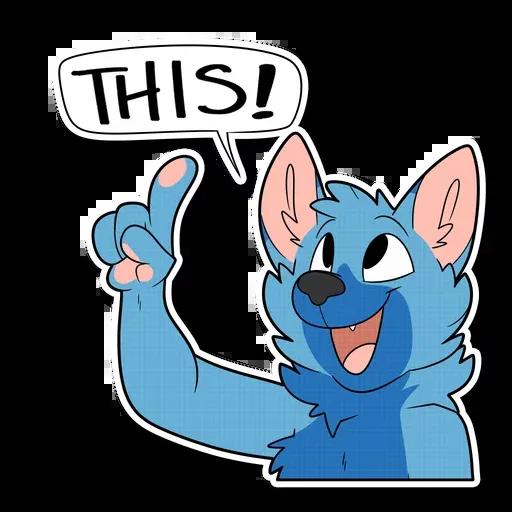 Blue wolf - Sticker 20
