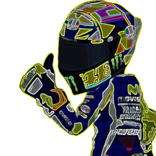 Moto cartoon - Sticker 2