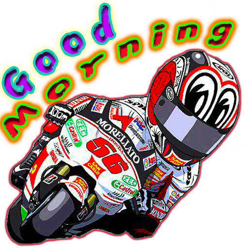 Moto cartoon - Sticker 4