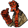 Hellboy - Tray Sticker
