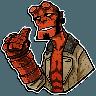 Hellboy - Tray Sticker
