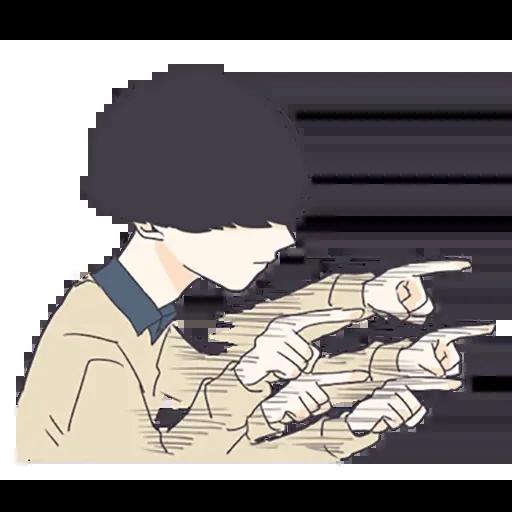 寂寞男孩 - Sticker 3