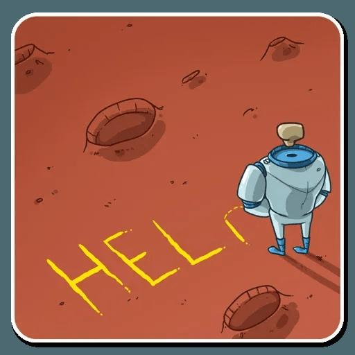 Lone dead spaceman - Sticker 14