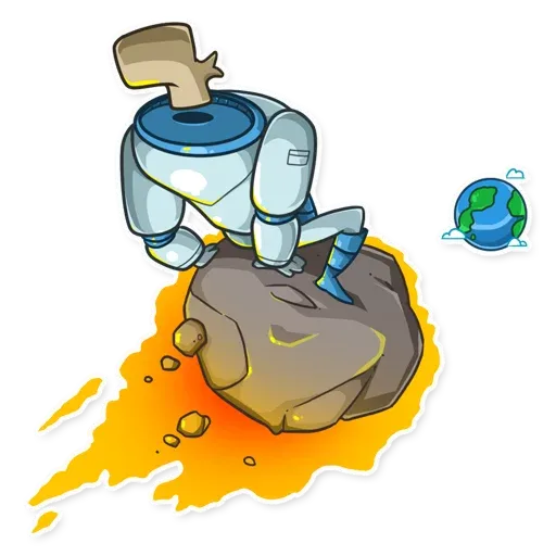 Lone dead spaceman - Sticker 10