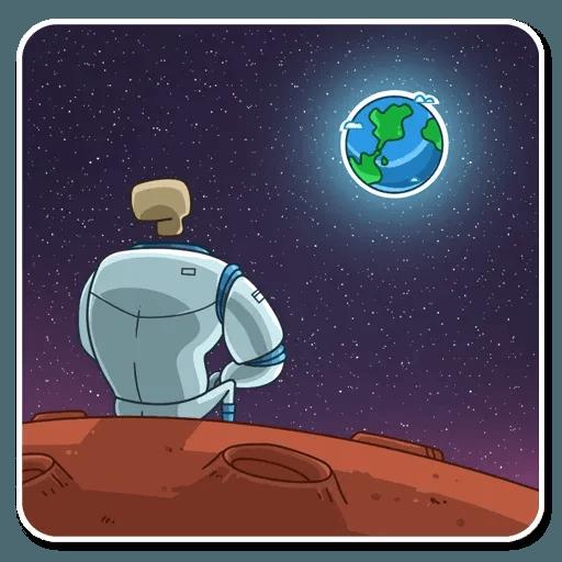 Lone dead spaceman - Sticker 6