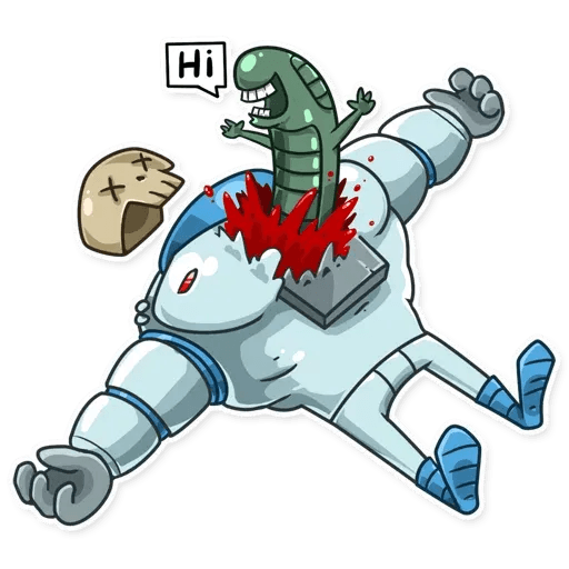 Lone dead spaceman - Sticker 5