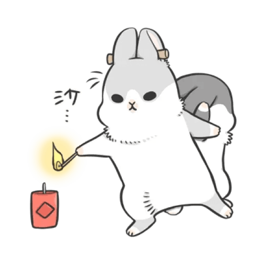 Rabbit Christmas 2 - Sticker 3